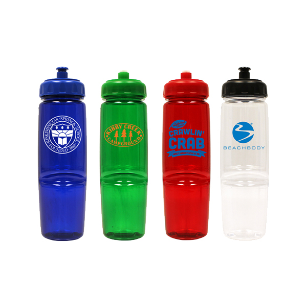 24 oz. Poly-Saver Twist Bottle with Push 'n Pull Cap - Closeout