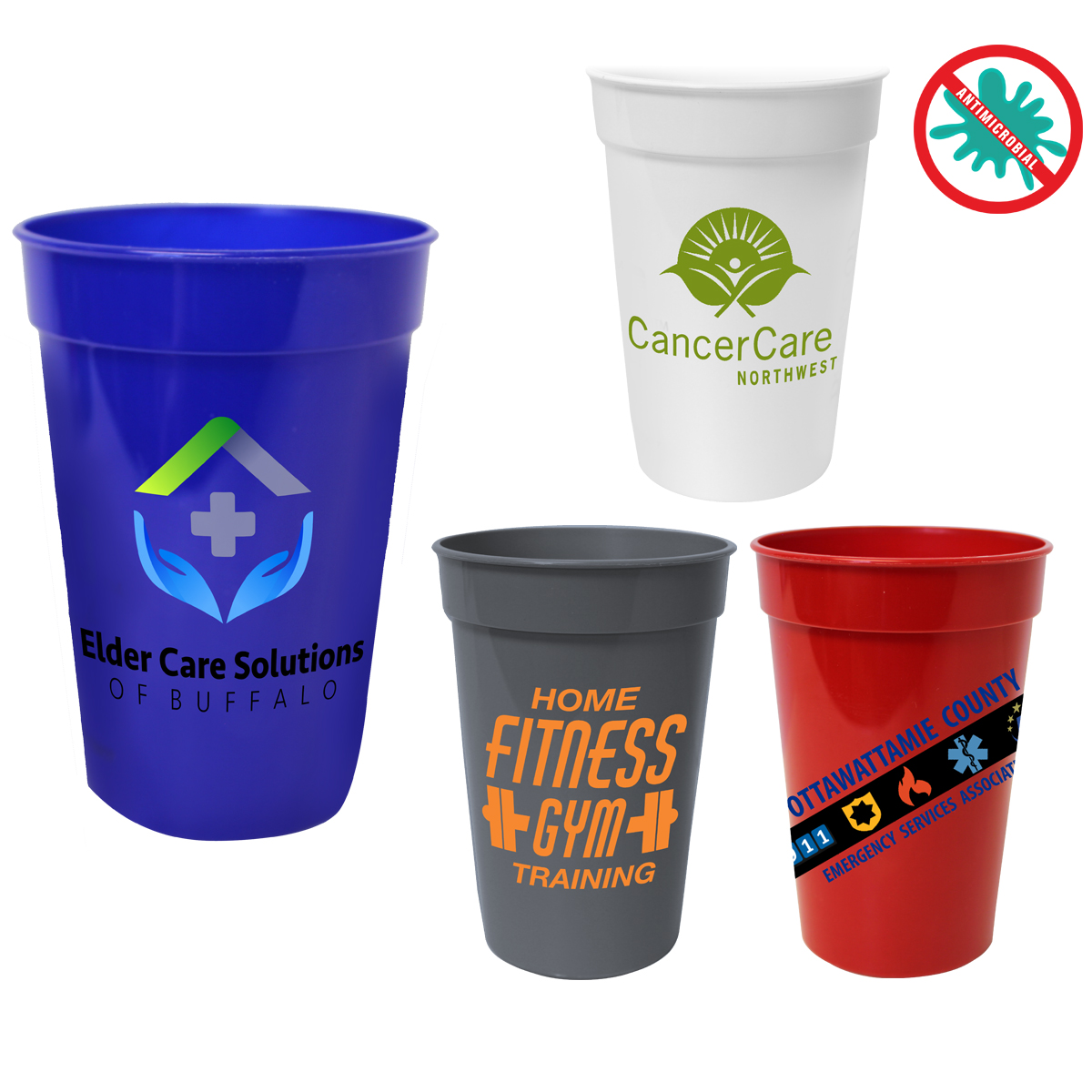 17 oz. Antimicrobial Stadium Cup