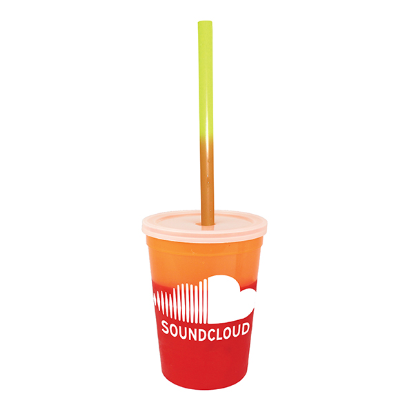 12 oz. Mood Stadium Cup/Straw/Lid Set