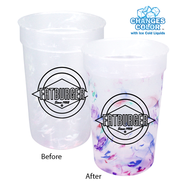 22 oz. Rainbow Confetti Mood Cup