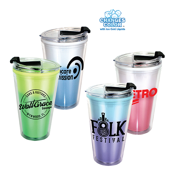 16 oz. Mood Victory Acrylic Tumbler with Flip Top Lid