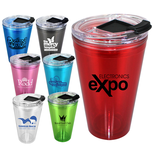 16 oz. Victory Acrylic Tumbler with Flip Top Lid