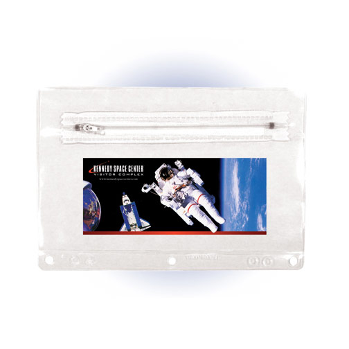 Premium Transparent Vinyl Zippered Pack, Full Color Digital
