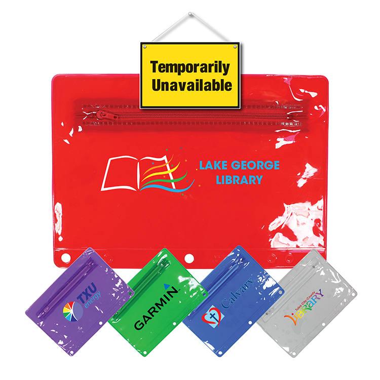 Premium Transparent Vinyl Zippered Pack, Full Color Digital