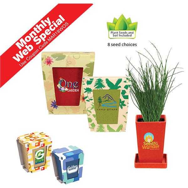 Promo Planter, 1-Pack Planter, Full Color Digital