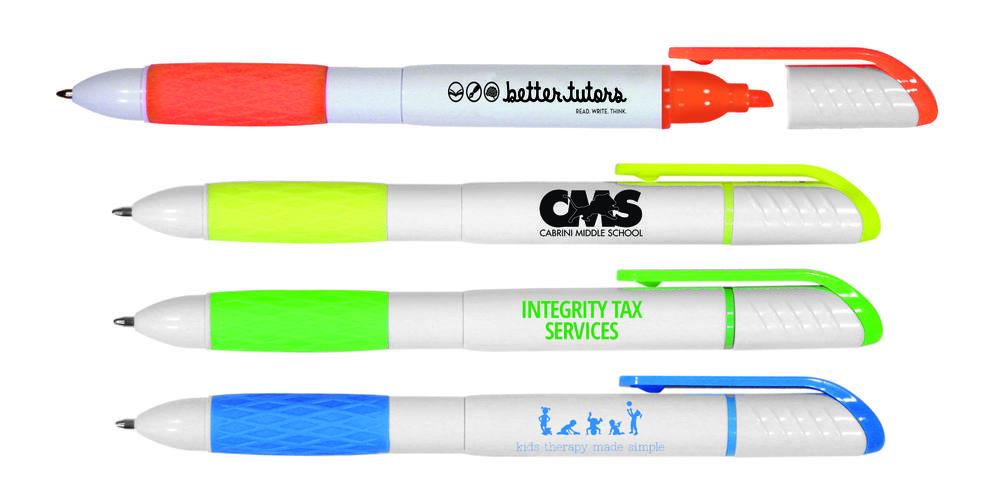 2 in 1 Pen/Highlighter, Full Color Digital