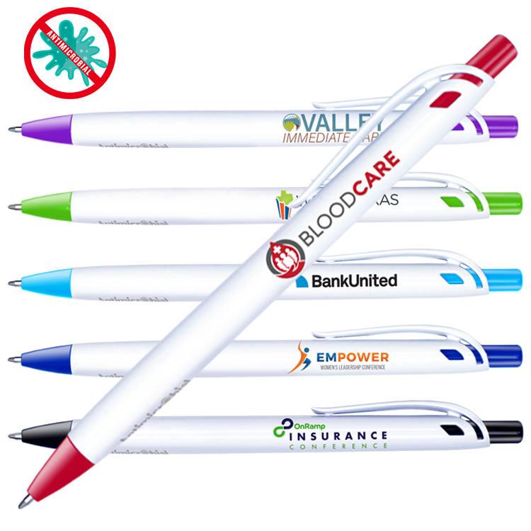 Antimicrobial Click Pen, Full Color Digital