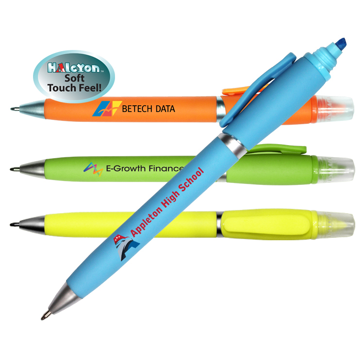 Halcyon® 2 in 1 Pen/Highlighter, Full Color Digital