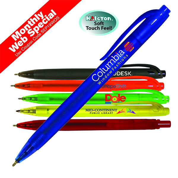 Halcyon® Translucent Click Pen, Full Color Digital