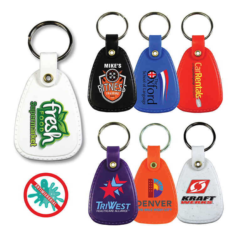 Antimicrobial Western Saddle Key Tag, Full Color Digital