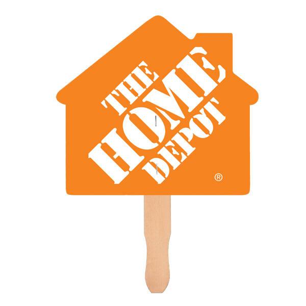 House Shape Hand Fan, Full Color Digital