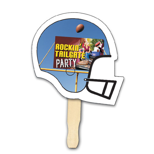 Helmet Shape Hand Fan, Full Color Digital