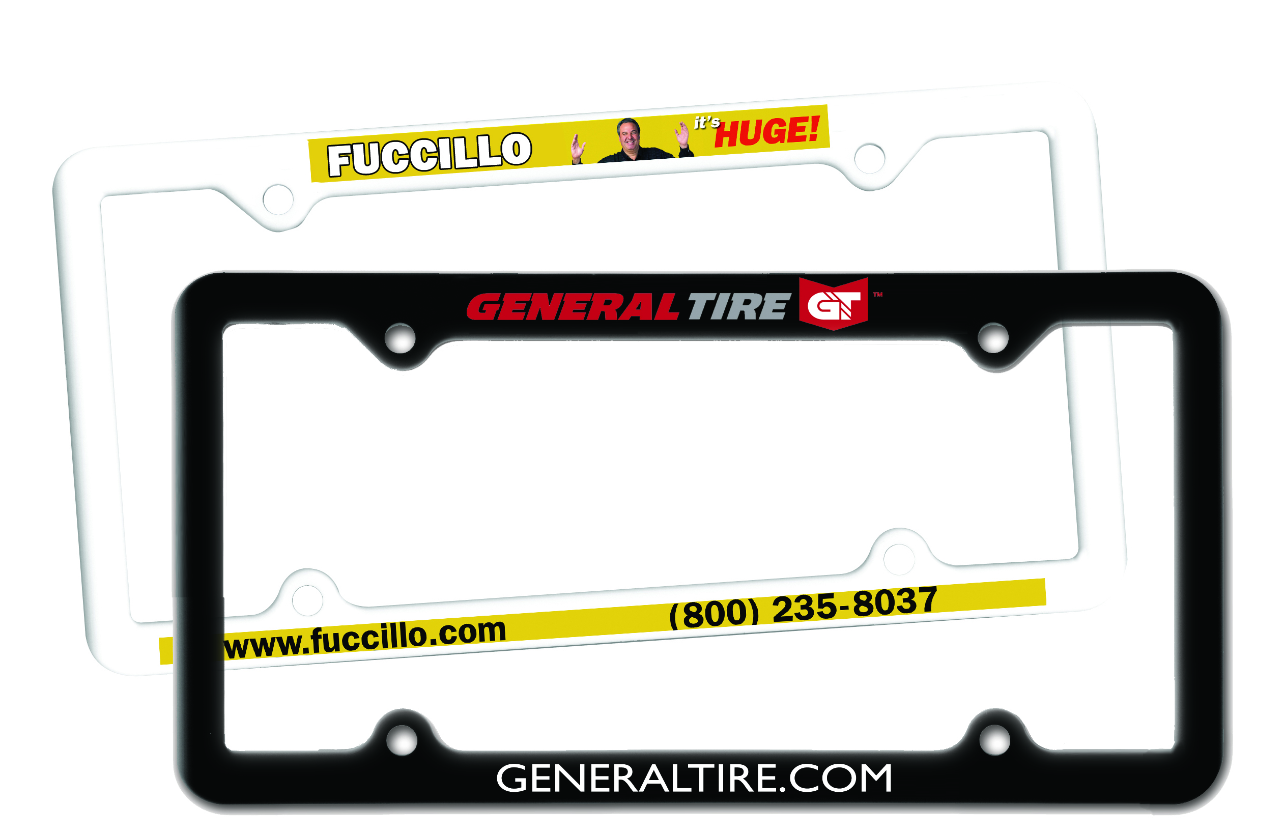 Thin Panel License Plate Frame,Full Color Digital