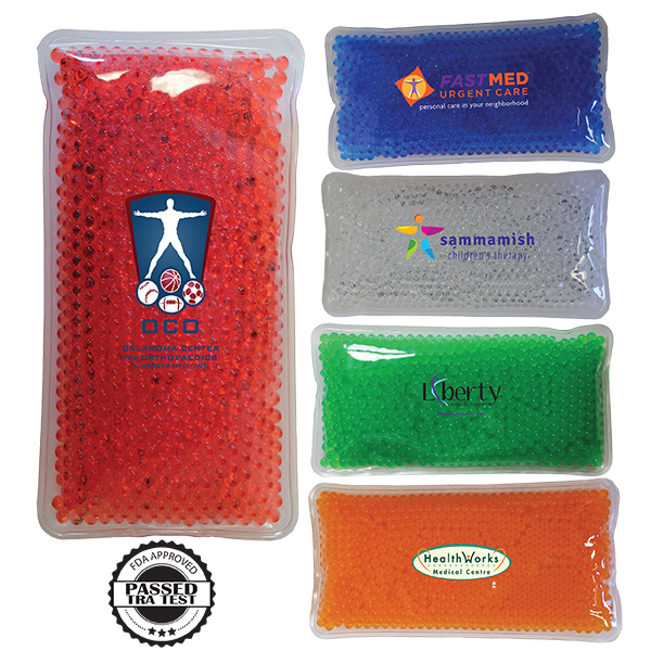 Rectangle Gel Bead Hot/Cold Pack, Full Color Digital