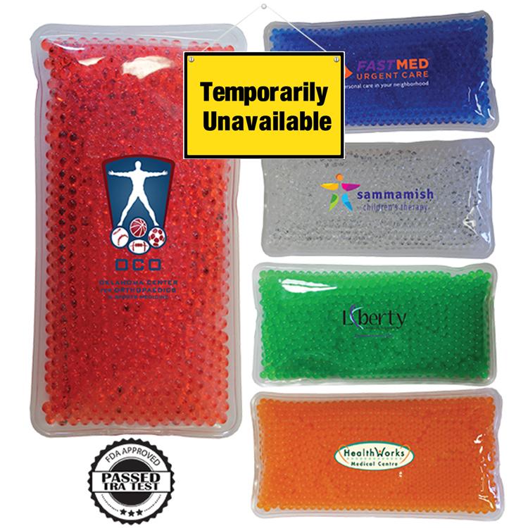 Rectangle Gel Bead Hot/Cold Pack, Full Color Digital