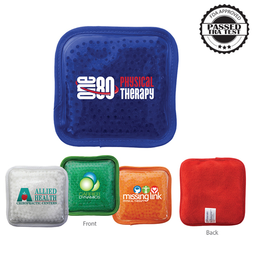 Plush Square Gel Bead Hot/Cold Pack, Full Color Digital