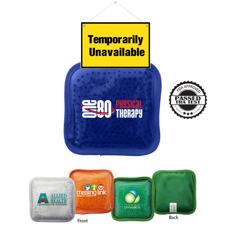 Plush Square Gel Bead Hot/Cold Pack, Full Color Digital