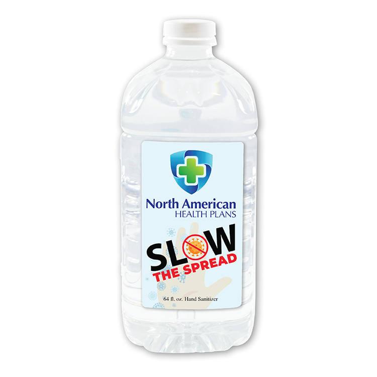 64 oz.  Liquid Hand Sanitizer, Full Color Digital
