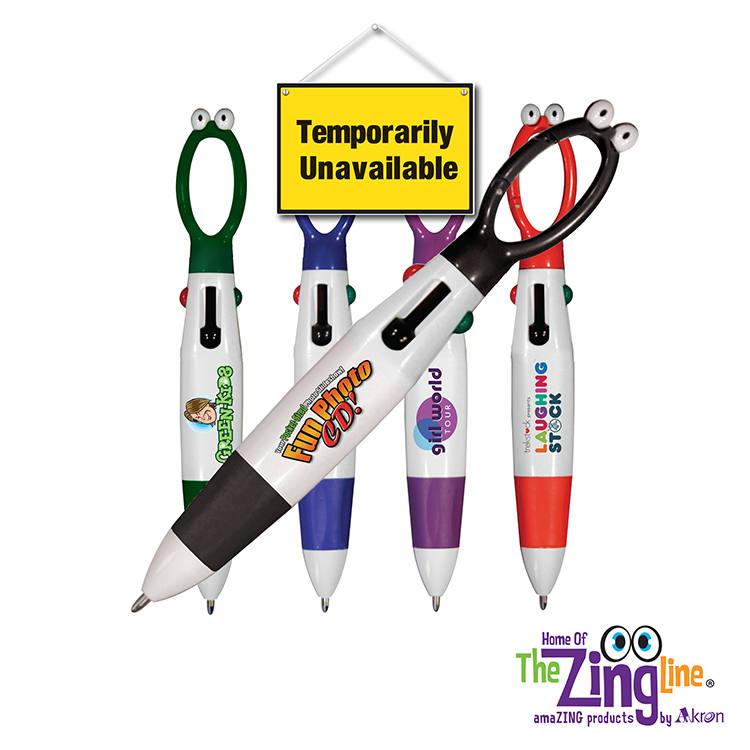 Googly-eyed 4-color Pen, Full Color Digital