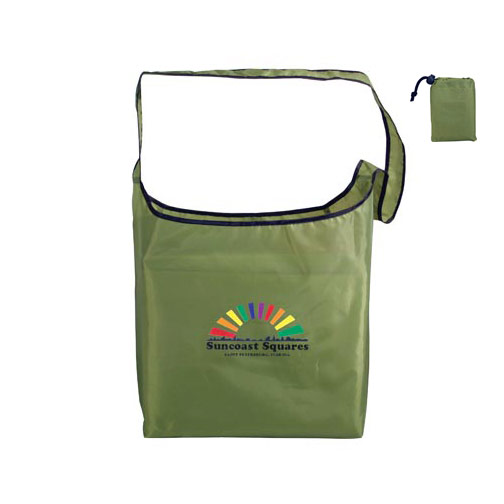 RPET Fold-Away Sling Bag, Full Color Digital