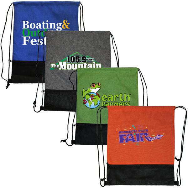 Mesh Pocket Backpack, Full Color Digital