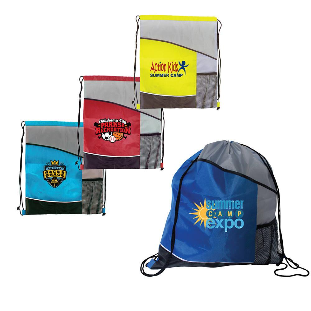 Varsity Drawstring Backpack, Full Color Digital