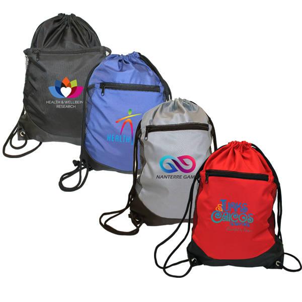 Soft RPET Pocket Drawstring Backpack, Full Color Digital