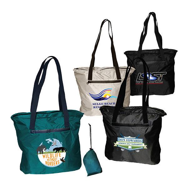 Otaria™ Packable Tote Bag, Full Color Digital