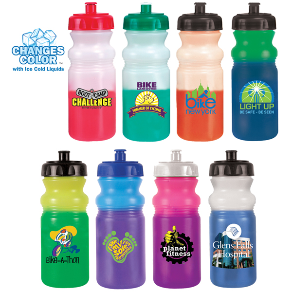 20 oz. Mood Cycle Bottle, Push and Pull Cap, Full Color Digital Direct