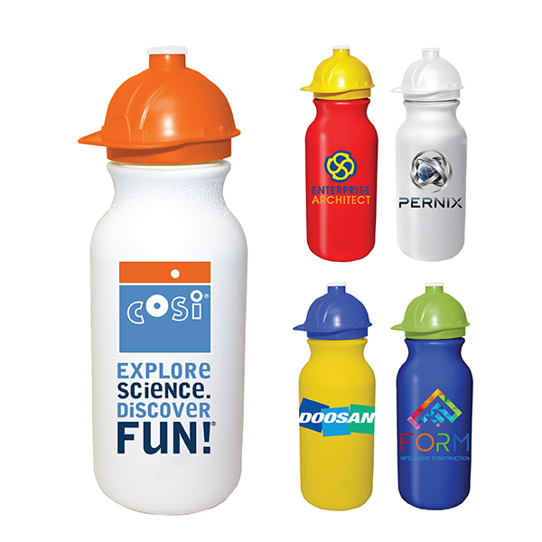 20 oz. Value Cycle Bottle with Safety Helmet Push 'n Pull Cap, Full Color Digital