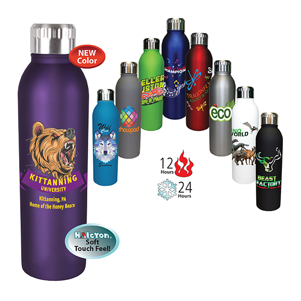 17 oz. Deluxe Halcyon® Bottle, Full Color Digital