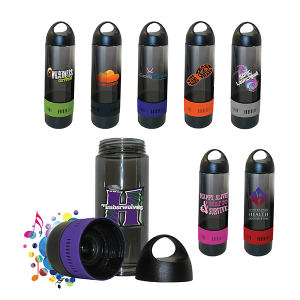 17 oz. Bluetooth® Speaker Sport Bottle, Full Color Digital