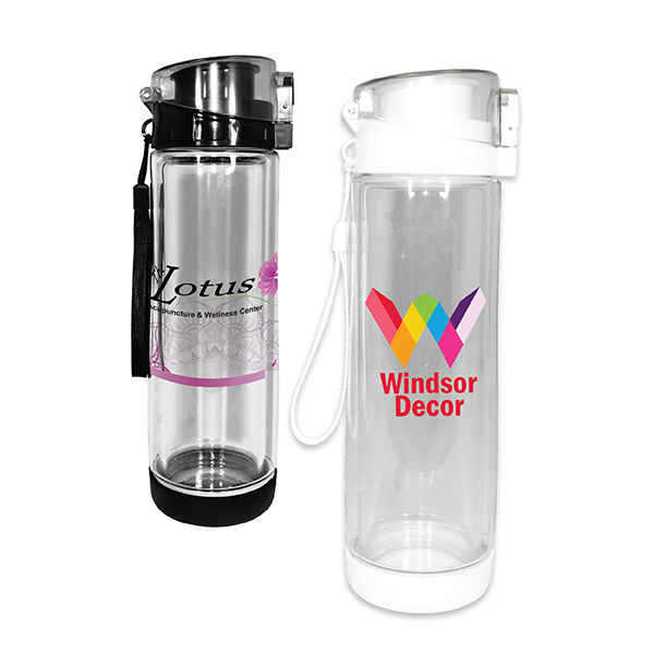 20 oz. Double Wall Tritan™/Glass Bottle, Full Color Digital