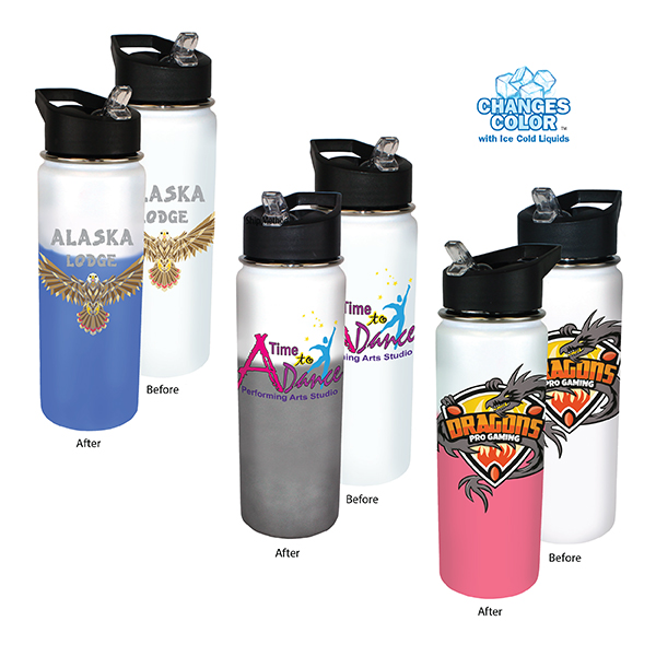 26 oz. Mood Stainless Steel Bottle, Full Color Digital
