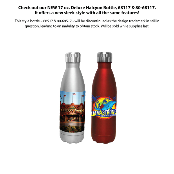 17 oz. Halcyon® Bottle, Full Color Digital