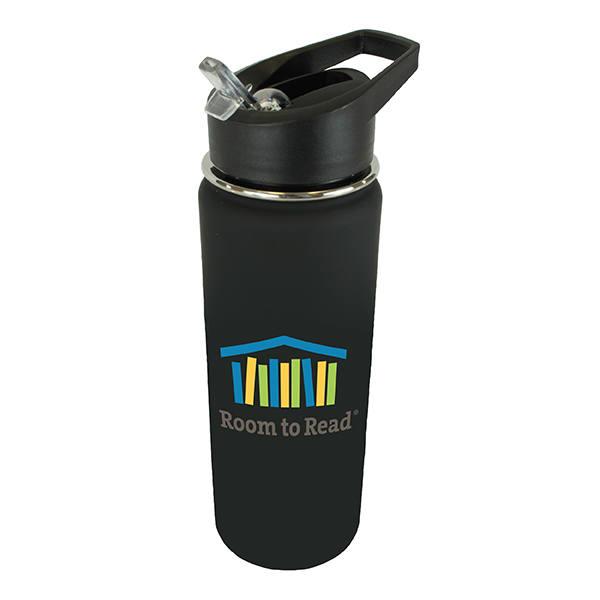 20 oz. Halcyon® Sports Bottle with Flip Straw Lid, Full Color Digital