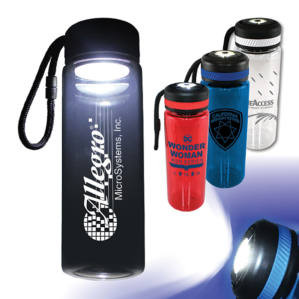 20 oz. Tritan™ Bottle with Flashlight Cap, Full Color Digital