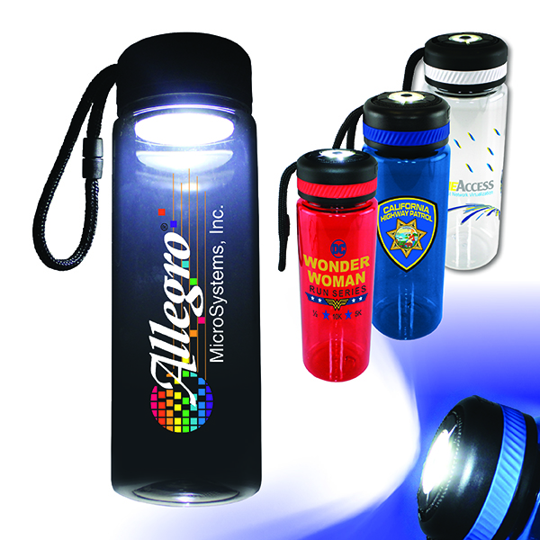 25 oz. Tritan™ Bottle with Flashlight Cap, Full Color Digital