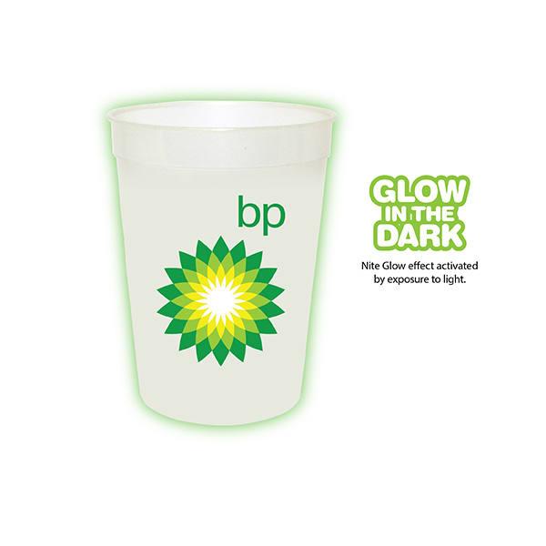 12 oz. Nite Glow Stadium Cup, Full Color Digital