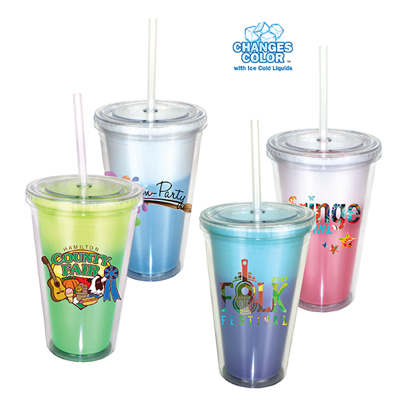 16 oz. Mood Victory Acrylic Tumbler with Straw Lid, Full Color Digital