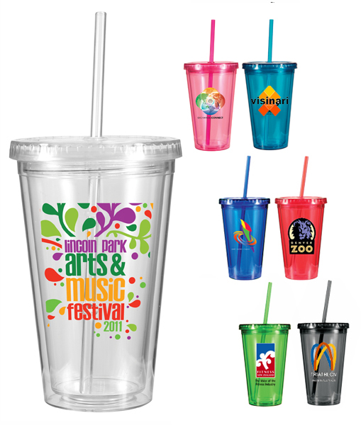 16 oz. Victory Acrylic Tumbler with Straw Lid, Full Color Digital