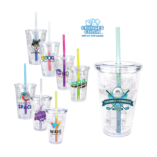 16oz. Victory Acrylic Tumbler With Mood Straw, Full Color Digital