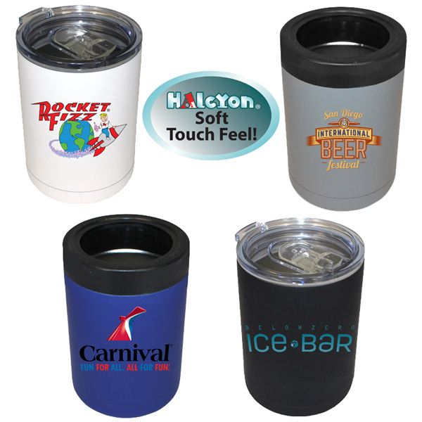 12 oz. Halcyon® Tumbler/Can Cooler, Full Color Digital