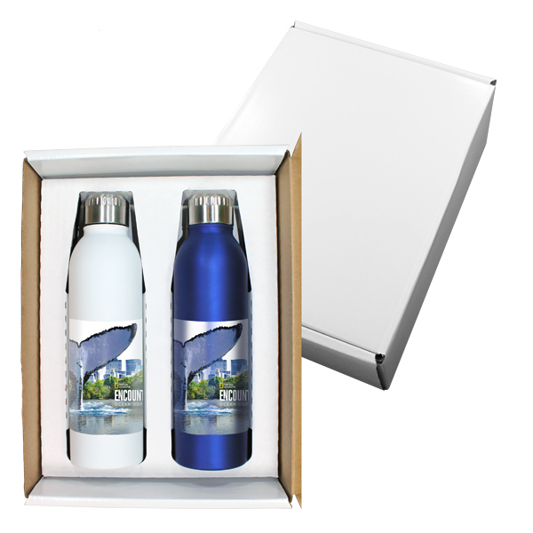 17 oz. Deluxe Halcyon® Bottle Gift Set, Full Color Digital