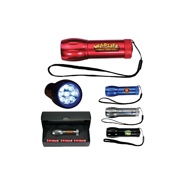 Mega Might LED Metal Flashlight, Full Color Digital