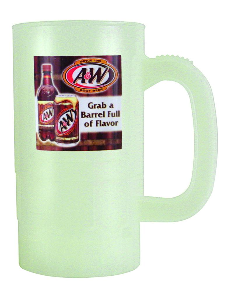 14 oz. Nite Glow Beer Stein (2 Side), Full Color Digital