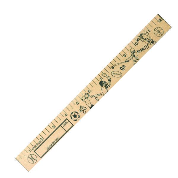 "Sports  ""U"" Color Rulers - Natural wood finish"