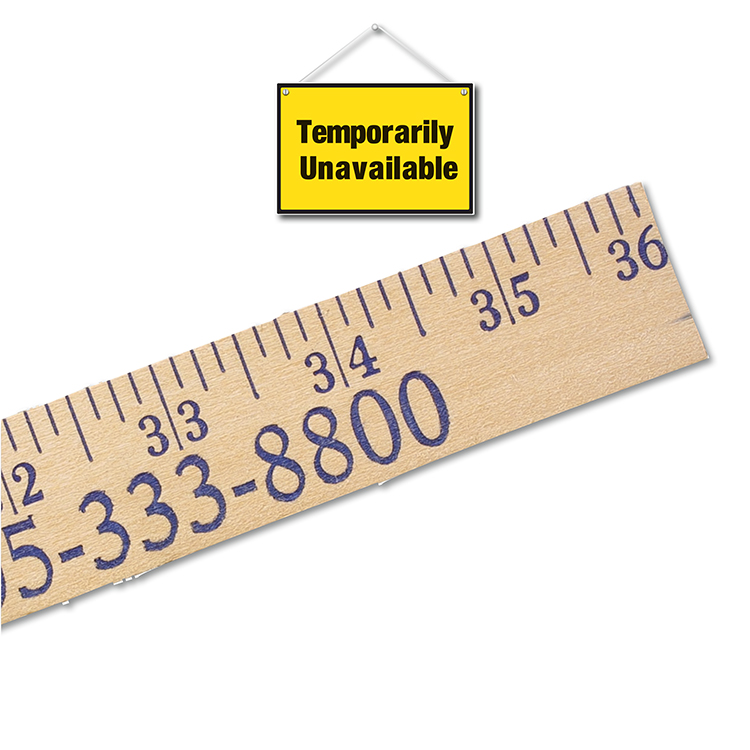 Heavy-Duty Yardsticks - Clear Lacquer Finish