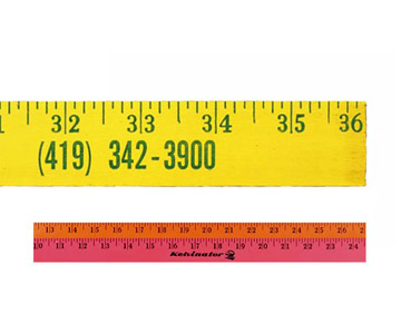 Fluorescent  Finish Yardsticks