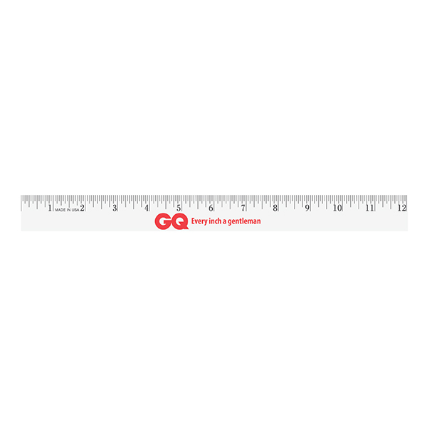 "12"" Enamel Wood Ruler - English Scale"